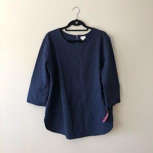 Merona navy blue top